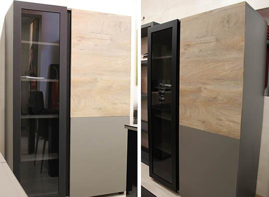 Colonna con anta vetro telaio nero