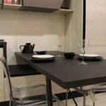 Cucina moderna in finitura rovere
