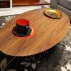 Tavolino ovale da salotto